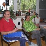 Maibaumstellen bei Trainer Reinhardt Princz 1. Mai 2010